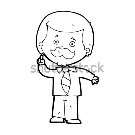 コミック 漫画 熱狂的な 男 レトロな ストックフォト © lineartestpilot