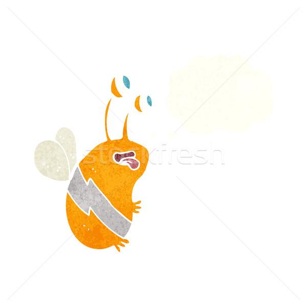 Cartoon смешные Bee мысли пузырь стороны дизайна Сток-фото © lineartestpilot