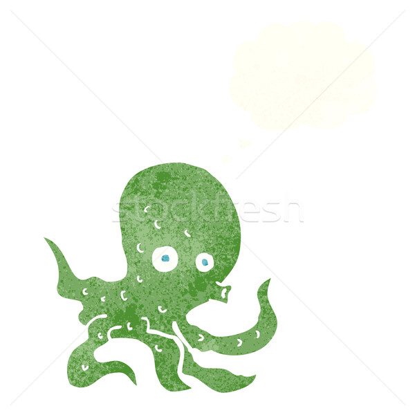 cartoon octopus with thought bubble Stock photo © lineartestpilot