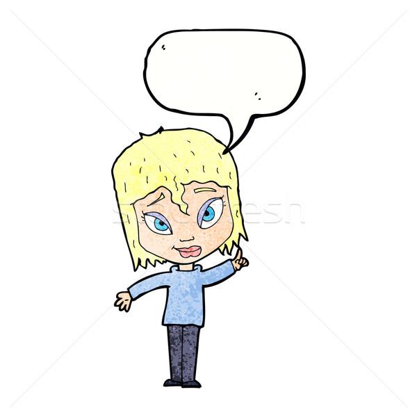 Cartoon donna idea fumetto mano design Foto d'archivio © lineartestpilot