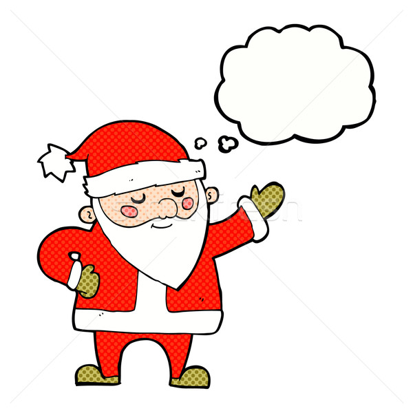 cartoon santa claus with thought bubble Stock photo © lineartestpilot