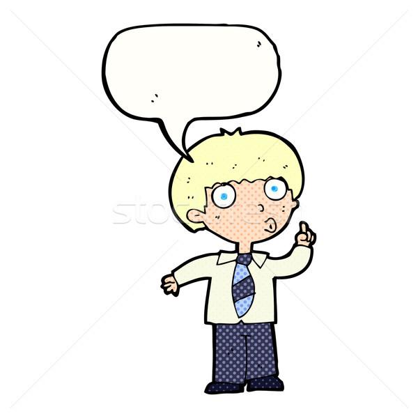 漫画 男子生徒 質問 吹き出し 手 男 ストックフォト © lineartestpilot