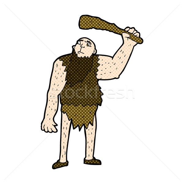 comic cartoon neanderthal Stock photo © lineartestpilot