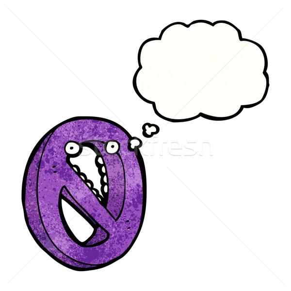 Cartoon nombre zéro texture main heureux Photo stock © lineartestpilot