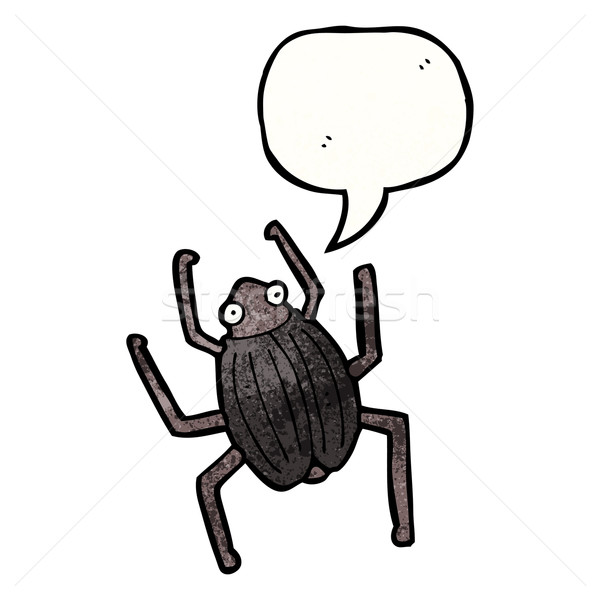 Cartoon bug texture main heureux dessin Photo stock © lineartestpilot