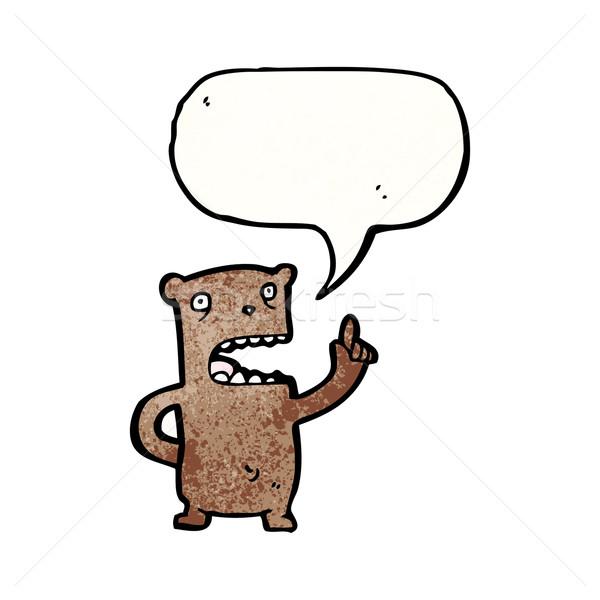 Rajz medve magyaráz pont textúra kéz Stock fotó © lineartestpilot