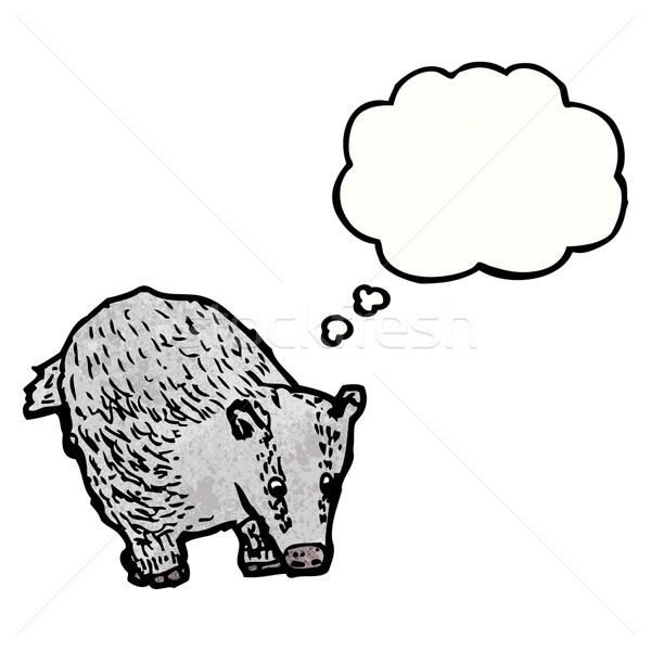 cartoon badger with thought bubble Stock photo © lineartestpilot