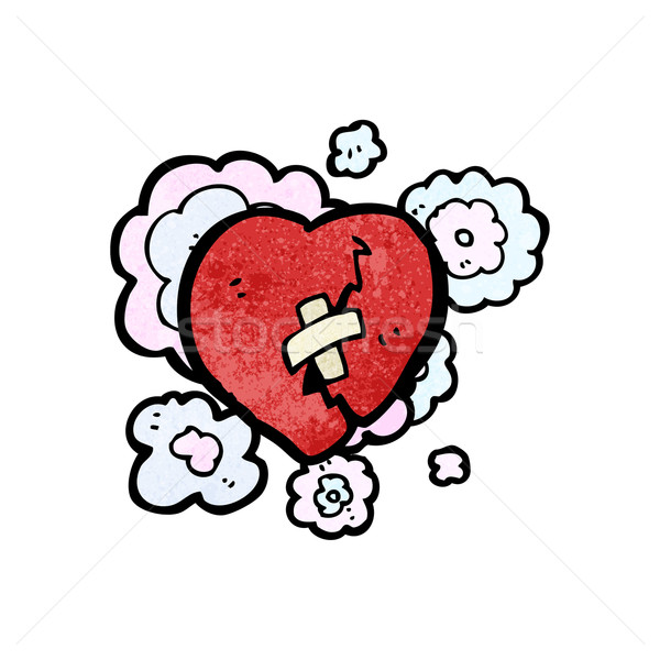 broken heart cartoon Stock photo © lineartestpilot