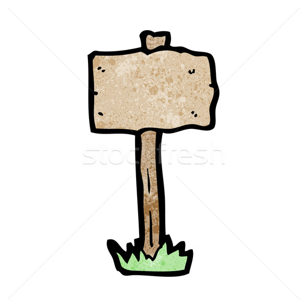Rajz üres tábla posta felirat retro rajz Stock fotó © lineartestpilot