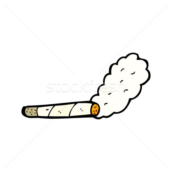 Fumare Sigaretta Cartoon Arte Retro Disegno