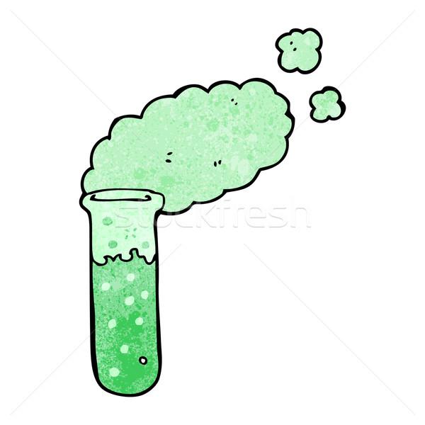 Desenho animado produtos químicos retro desenho bonitinho ilustração Foto stock © lineartestpilot