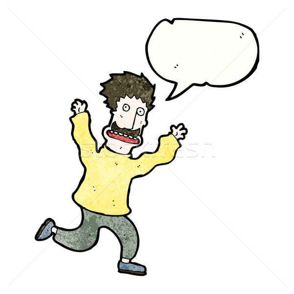 cartoon terrified man Stock photo © lineartestpilot
