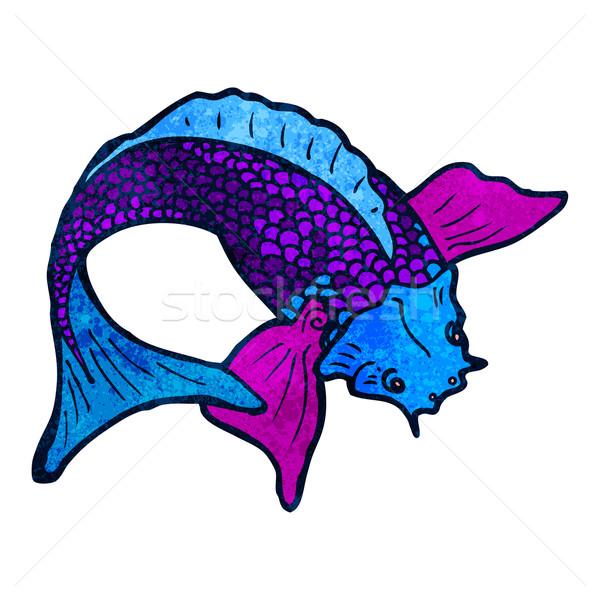 Cartoon Японский рыбы татуировка искусства ретро Сток-фото © lineartestpilot
