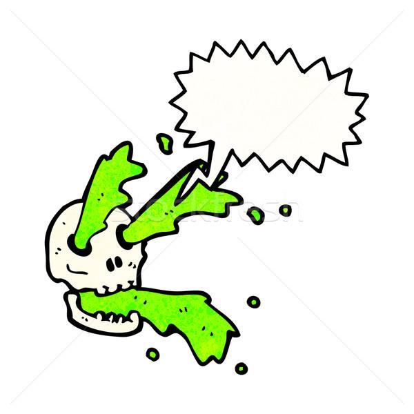 gross slime squirting skull cartoon Stock photo © lineartestpilot