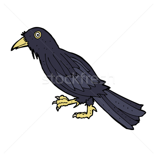 Cartoon linii projektu sztuki ptaków retro Zdjęcia stock © lineartestpilot