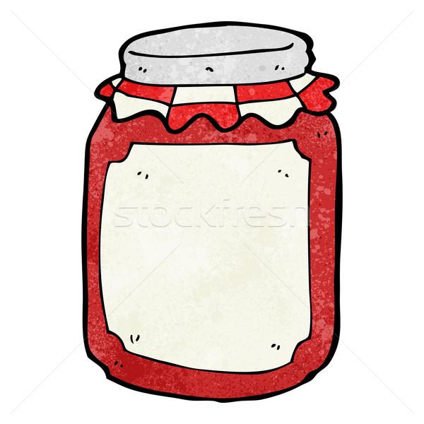cartoon jar of preserve Stock photo © lineartestpilot