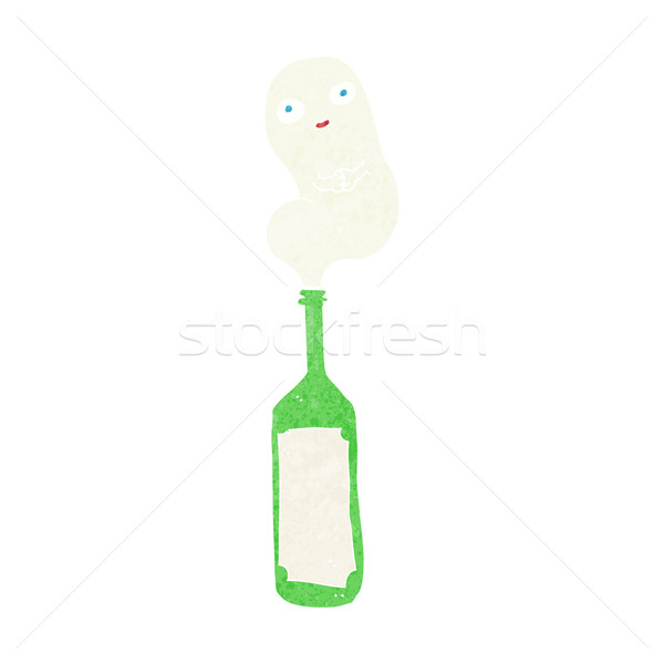 Cartoon fantasma botella diseno arte retro Foto stock © lineartestpilot