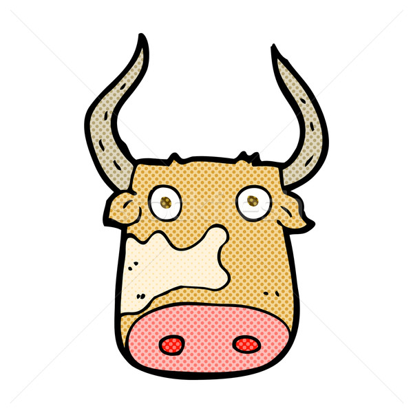 comic cartoon cow Stock photo © lineartestpilot