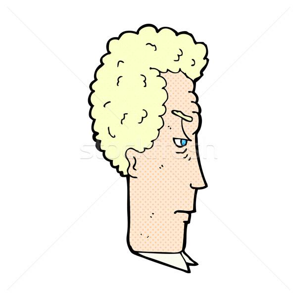 Dessinées cartoon agacé homme rétro Photo stock © lineartestpilot
