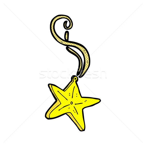 Comic desen animat magic stea colier retro Imagine de stoc © lineartestpilot
