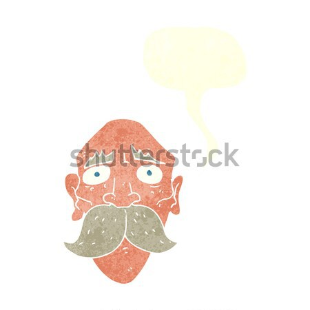 cartoon smiling man with thought bubble Stock photo © lineartestpilot