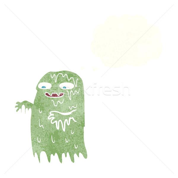 Cartoon слизь Ghost мысли пузырь стороны дизайна Сток-фото © lineartestpilot