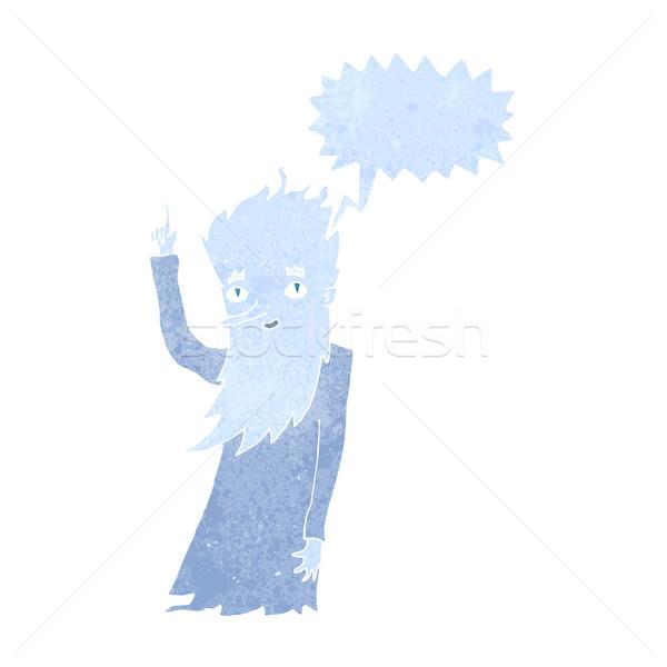 Fagy rajz szövegbuborék kéz terv tél Stock fotó © lineartestpilot