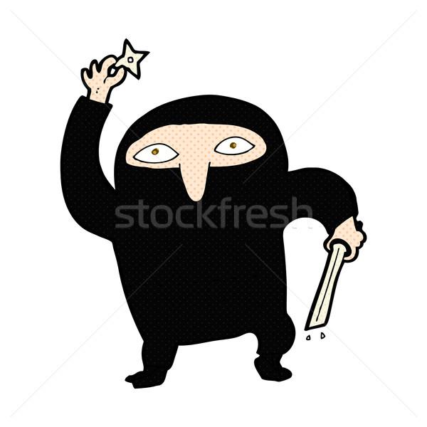 комического Cartoon ниндзя ретро стиль Сток-фото © lineartestpilot