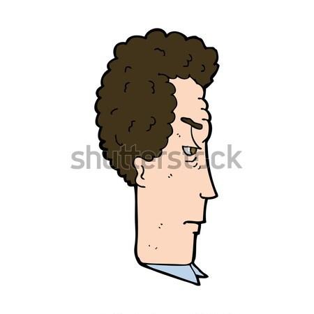 Cômico desenho animado irritado homem retro Foto stock © lineartestpilot