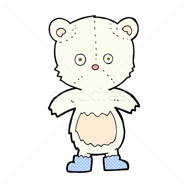Dessinées cartoon ours polaire rétro Photo stock © lineartestpilot