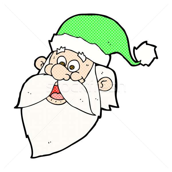 comic cartoon jolly santa claus face Stock photo © lineartestpilot