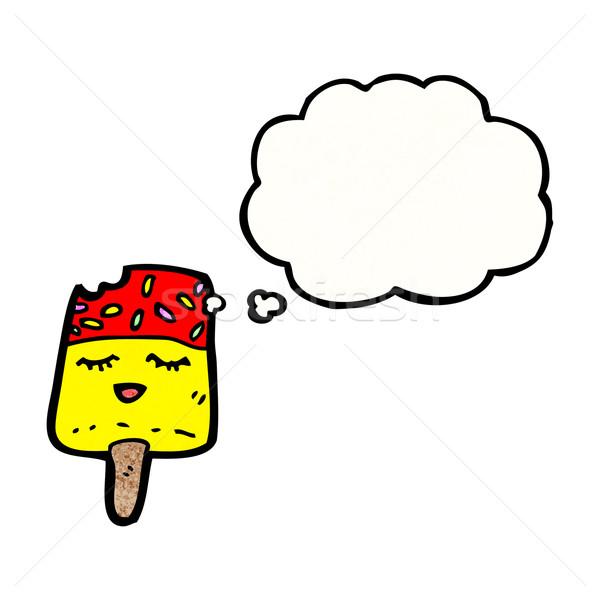 漫画 氷 キャンディー テクスチャ 手 幸せ ストックフォト © lineartestpilot