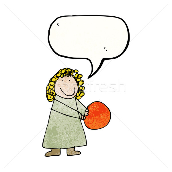 child's drawing of a woman with ball Stock photo © lineartestpilot