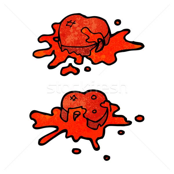 Stock fotó: Véres · szívek · rajz · textúra · kéz · boldog