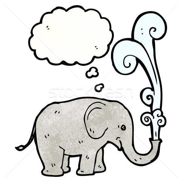cartoon elephant squirting water Stock photo © lineartestpilot