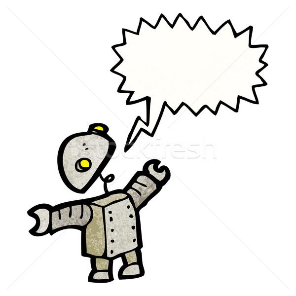 Stock photo: cartoon robot talking