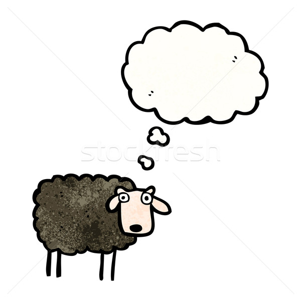 cartoon black sheep Stock photo © lineartestpilot