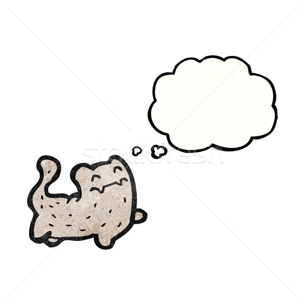 cartoon cat with thought bubble Stock photo © lineartestpilot