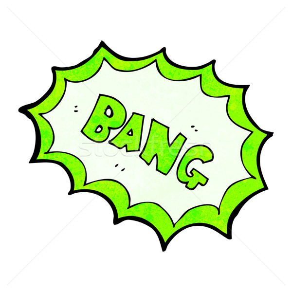 comic book bang symbol Stock photo © lineartestpilot