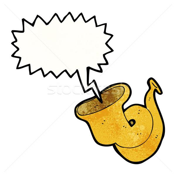 cartoon tuba blowing Stock photo © lineartestpilot