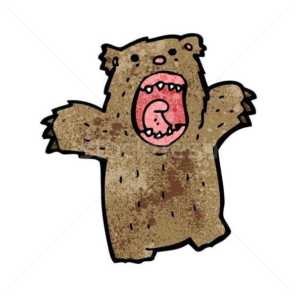cartoon roaring bear Stock photo © lineartestpilot