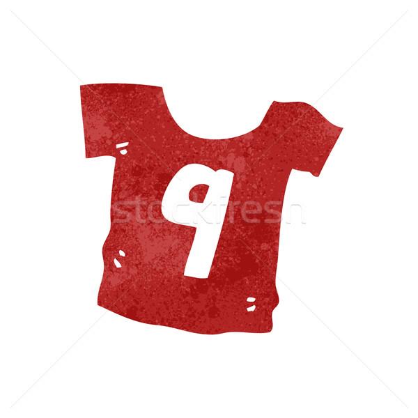ретро Cartoon спортивных рубашку текстуры изолированный Сток-фото © lineartestpilot