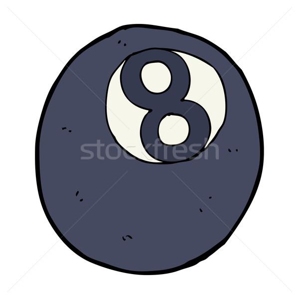 Cartoon восемь мяча дизайна искусства бассейна Сток-фото © lineartestpilot