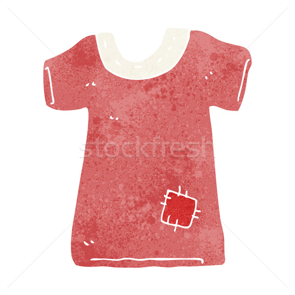 cartoon patched old tee shirt Stock photo © lineartestpilot
