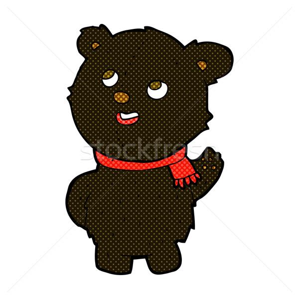 комического Cartoon Cute черный несут Сток-фото © lineartestpilot