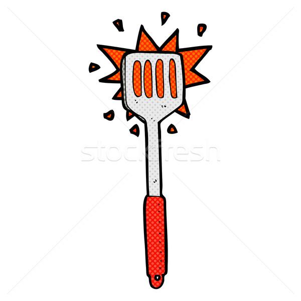 comic cartoon kitchen spatula Stock photo © lineartestpilot