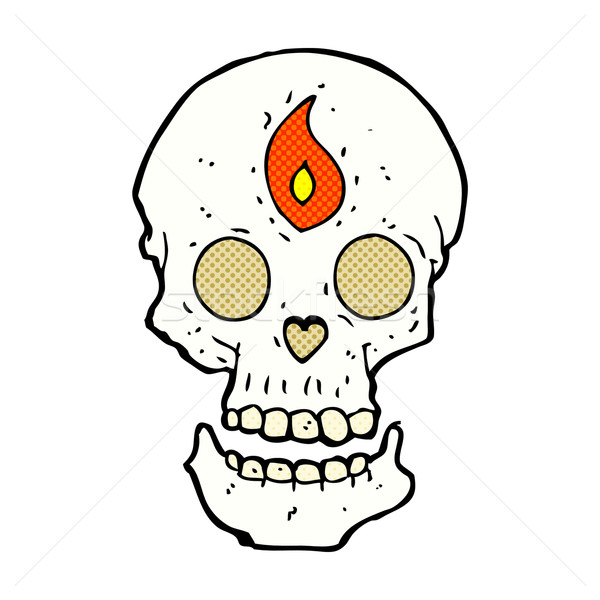 comic cartoon mystic skull Stock photo © lineartestpilot