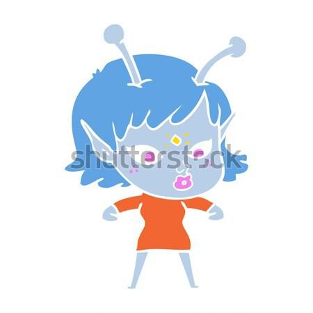 Cartoon felice uomo bolla di pensiero mano design Foto d'archivio © lineartestpilot