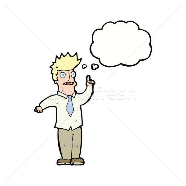 Cartoon человека Идея мысли пузырь стороны дизайна Сток-фото © lineartestpilot