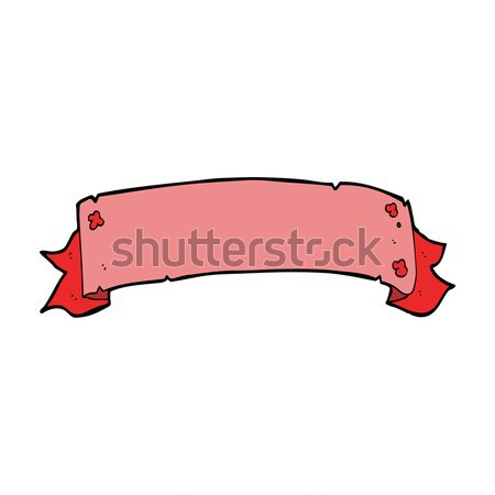 Heraldiek scroll banner komische cartoon retro Stockfoto © lineartestpilot